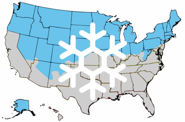 Fall/Winter Planting Wildflower Seed in Colder Climate Map