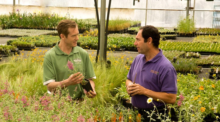 Ethan Platt, president of High Country Gardens and American Meadows, with Founder David Salmon