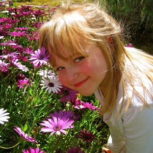 Customer Photo - Girl with anemones.