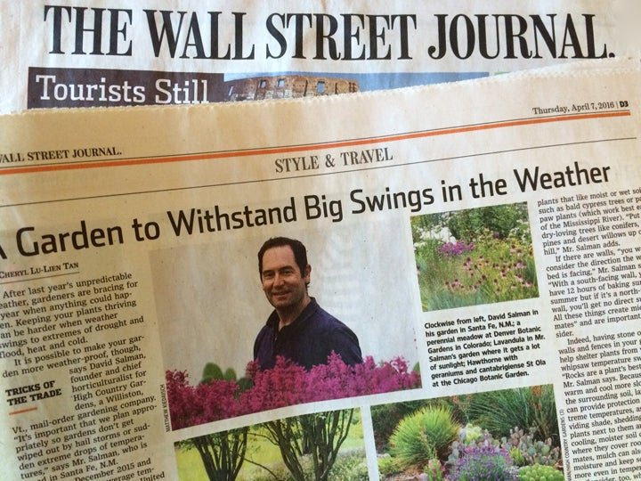 Horticulturist David Salman was interviewed by the Wall Street Journal