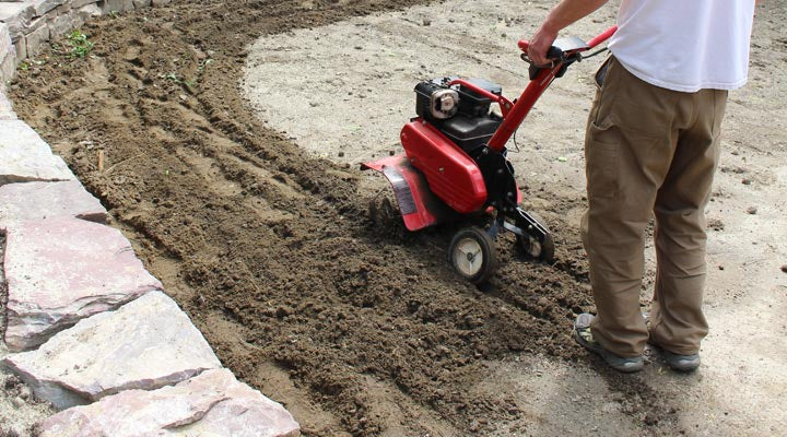 rototilling soil for wildflower seed planting