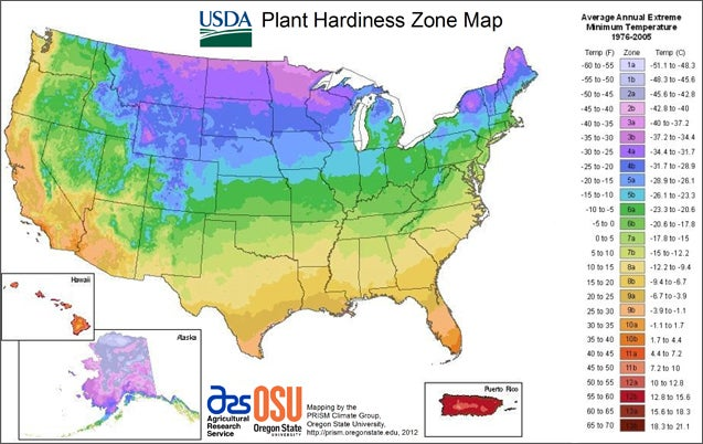 hardiness zone map usa